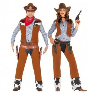 O casal Cowboy rodeio original e engraçado para se disfraçar com o seu parceiro