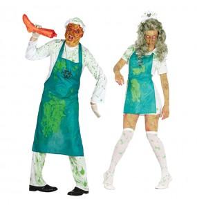 O casal Zombies radioativos original e engraçado para se disfraçar com o seu parceiro