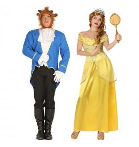 O casal A Bela e o Monstro original e engraçado para se disfraçar com o seu parceiro