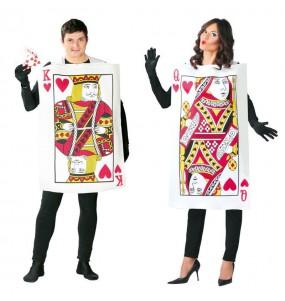 O casal Cartas Reis de copas original e engraçado para se disfraçar com o seu parceiro
