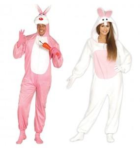 O casal Coelhinhos original e engraçado para se disfraçar com o seu parceiro