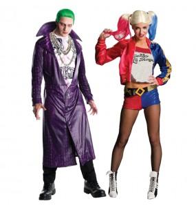 O casal Joker Suicide Squad e Harley Quinn original e engraçado para se disfraçar com o seu parceiro