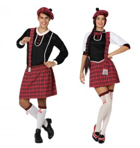 O casal Escoceses kilt original e engraçado para se disfraçar com o seu parceiro