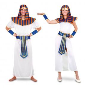 O casal faraós original e engraçado para se disfraçar com o seu parceiro