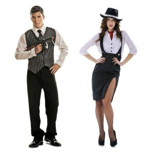 O casal Gangsters O Padrinho original e engraçado para se disfraçar com o seu parceiro