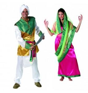 O casal Hindus original e engraçado para se disfraçar com o seu parceiro