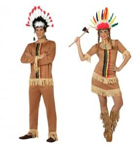 O casal Índios Coloridos original e engraçado para se disfraçar com o seu parceiro
