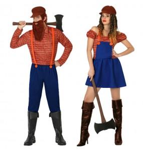 O casal Lenhadores original e engraçado para se disfraçar com o seu parceiro