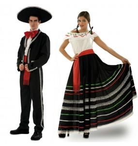 O casal Mariachi luxo original e engraçado para se disfraçar com o seu parceiro