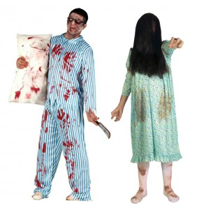 O casal Zombies possuídos original e engraçado para se disfraçar com o seu parceiro