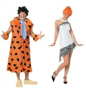 O casal Fred e Wilma Flintstone original e engraçado para se disfraçar com o seu parceiro