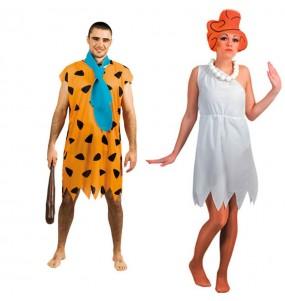 O casal The Flintstones original e engraçado para se disfraçar com o seu parceiro
