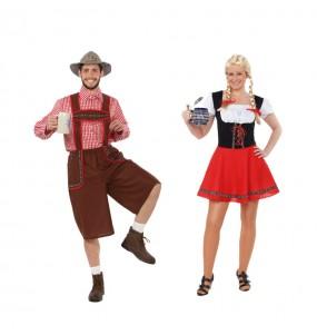 O casal Tiroleses original e engraçado para se disfraçar com o seu parceiro