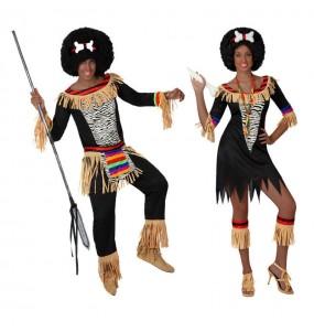 O casal Zulus original e engraçado para se disfraçar com o seu parceiro