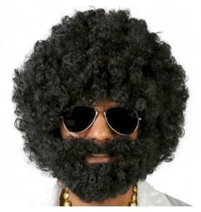 A Peruca Afro com Barba mais engraçada para festas de fantasia