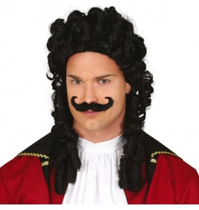 Peruca Capitão Hook com bigode