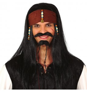 A Peruca pirata Jack Sparrow mais engraçada para festas de fantasia