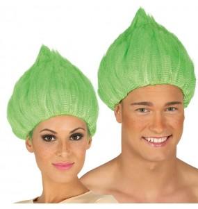 A Peruca Troll Verde mais engraçada para festas de fantasia