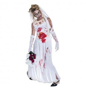 Fato de Noiva zombie mulher para a noite de Halloween