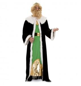Disfarce Rei Mago Gaspar Dorado adulto divertidíssimo para Natal