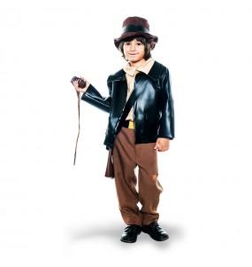 Disfarce Arque?logo Indiana Jones menino para deixar voar a sua imagina??o