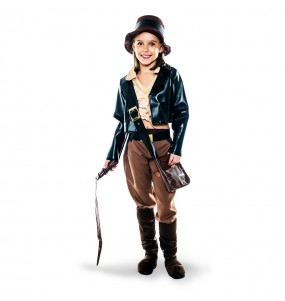 Disfarce Arque?loga Indiana Jones menina para que eles sejam com quem sempre sonharam
