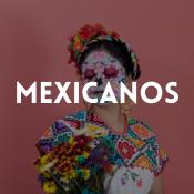 Catálogo de fatos mexicanos para rapazes, raparigas, homens e mulheres