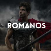 Catálogo de fatos romanos para rapazes, raparigas, homens e mulheres
