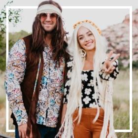 Comprar online os fatos Hippies mais originais para adultos e crianças