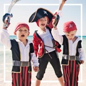 Comprar online os fatos piratas mais originais para adultos e crianças
