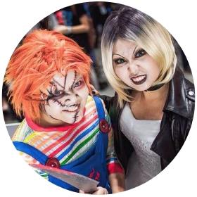 Loja online de fatos Chucky