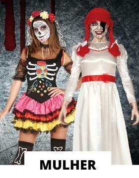 Fatos de Halloween para mulher
