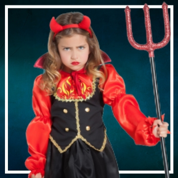 Compra online fatos de Halloween diabas para meninas