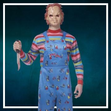 Loja online de roupas de Halloween de Chucky
