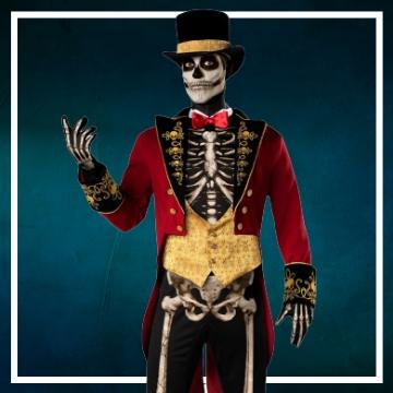 Loja online de roupas de Halloween de esqueletos