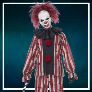 Loja online de roupas de Halloween de palhaços assassinos