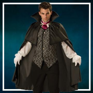 Loja online de roupas de Halloween de vampiros