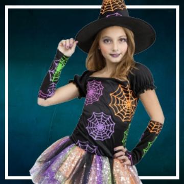Compra online fatos de Halloween bruxas para meninas