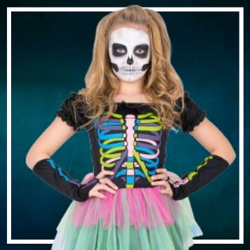 Compra online fatos de Halloween Catrina para meninas