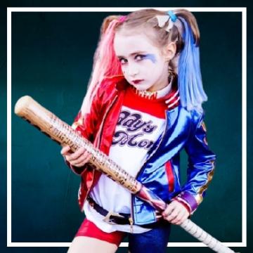 Compra online fatos de Halloween Harley Quinn para meninas