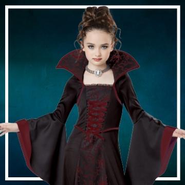 Compra online fatos de Halloween vampiro para meninas