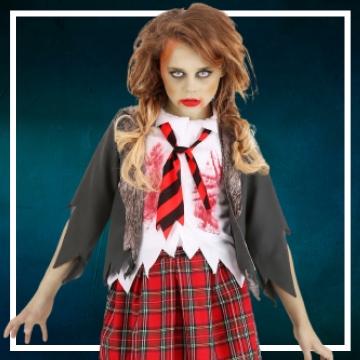 Compra online fatos de Halloween zombies para meninas