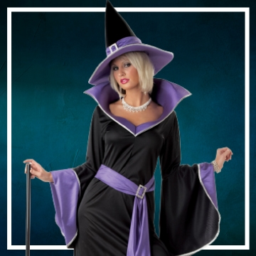 Loja online de roupas de Halloween de bruxas para mulher