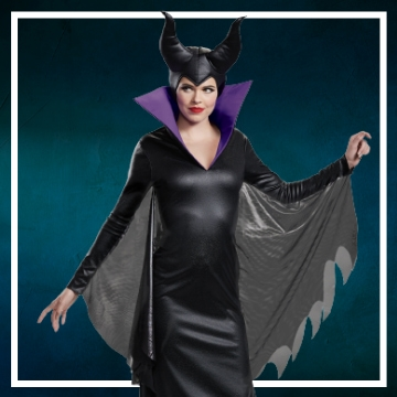 Loja online de roupas de Halloween de Maléfica para mulher