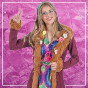 Comprar online os disfarces mais originais de Hippies para mulheres