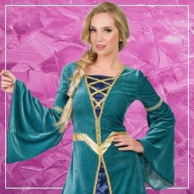 Comprar online os disfarces mais originais medievais para mulheres