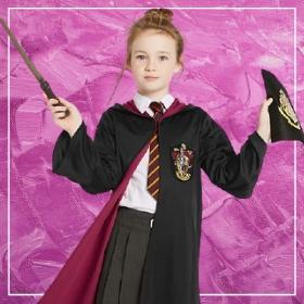 Comprar online os disfarces mais originais de Harry Potter para meninas
