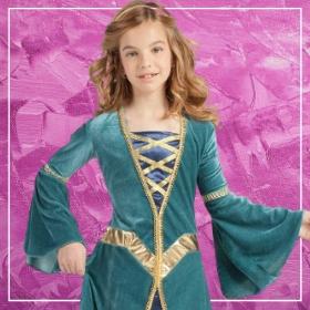 Comprar online os disfarces mais originais de Idade Média para meninas